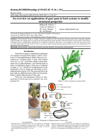 An overview on applications of guar gum in food systems to modify structural properties