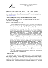 Calibrating therapeutic ultrasound transducers: corrections for the effects of acoustic cavitation and acoustic streaming