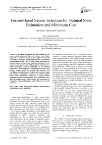 Fusion-Based Sensor Selection for Optimal State Estimation and Minimum Cost (Intelligent Optimization Approach)
