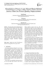 Simulation of Fuzzy Logic Based Shunt Hybrid Active Filter for Power Quality Improvement