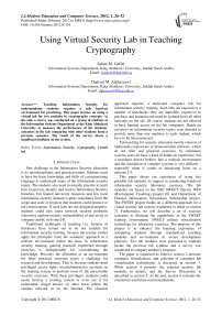 Using Virtual Security Lab in Teaching Cryptography