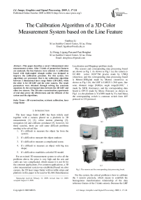 The Calibration Algorithm of a 3D Color Measurement System based on the Line Feature