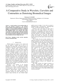 A Comparative Study in Wavelets, Curvelets and Contourlets as Denoising Biomedical Images