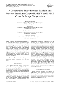 A Comparative Study between Bandelet and Wavelet Transform Coupled by EZW and SPIHT Coder for Image Compression