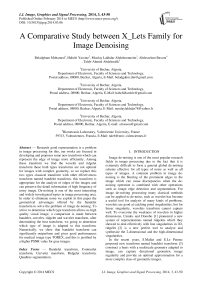 A Comparative Study between X_Lets Family for Image Denoising