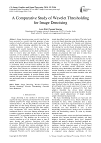 A Comparative Study of Wavelet Thresholding for Image Denoising
