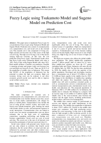 Fuzzy logic using tsukamoto model and sugeno model on prediction cost