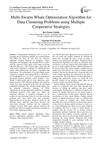 Multi-swarm whale optimization algorithm for data clustering problems using multiple cooperative strategies