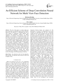 An efficient scheme of deep convolution neural network for multi view face detection