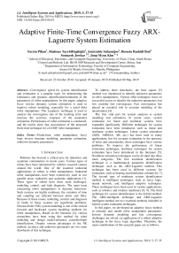 Adaptive finite-time convergence fuzzy ARX-laguerre system estimation