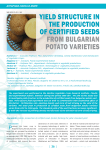 Yield structure in the production of certified seeds from bulgarian potato varieties