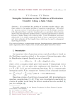 Turnpike solutions in the problem of excitation transfer along a spin chain