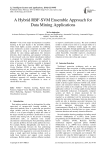 A Hybrid RBF-SVM Ensemble Approach for Data Mining Applications