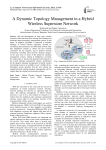 A Dynamic Topology Management in a Hybrid Wireless Superstore Network