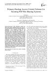 Primary-Backup Access Control Scheme for Securing P2P File-Sharing Systems