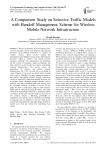 A Comparison Study on Selective Traffic Models with Handoff Management Scheme for Wireless Mobile Network Infrastructure