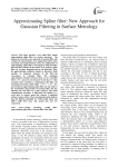 Approximating Spline filter: New Approach for Gaussian Filtering in Surface Metrology