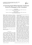 A Clustering-based Offline Signature Verification System for Managing Lecture Attendance