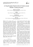 A Classification Framework for Context-aware Mobile Learning Systems