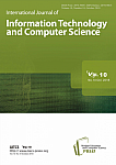 10 Vol. 10, 2018 - International Journal of Information Technology and Computer Science